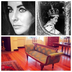 Elizabeth Taylor and Queen Elizabeth II of England were both received in the Second Floor West Oval Room.