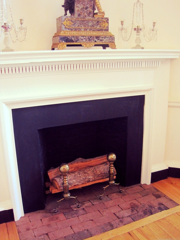 The fireplace where some unlucky students' dissertations went up in flames.