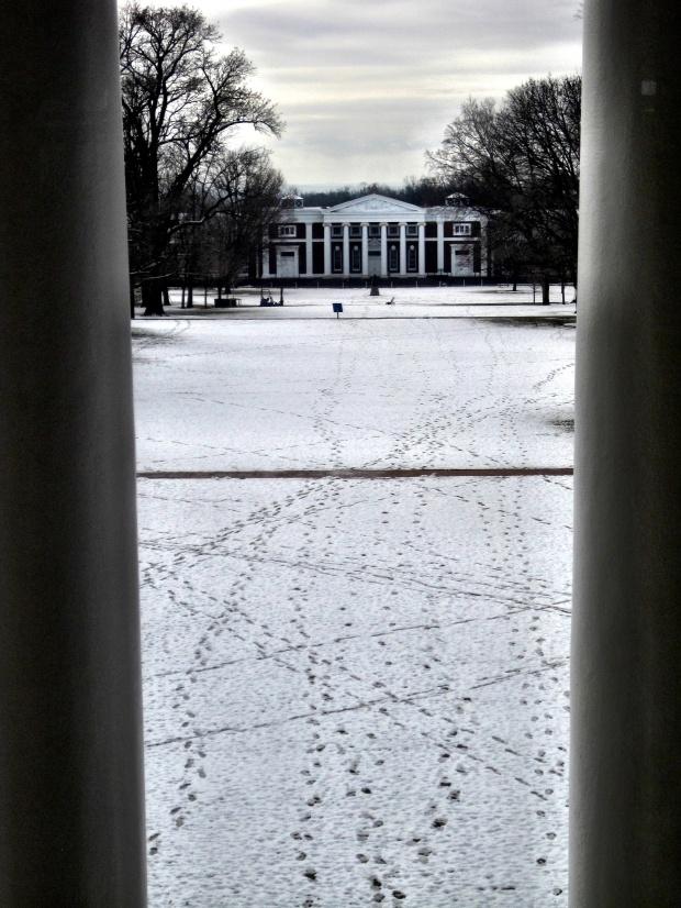 Thomas Jefferson's last view of UVA
