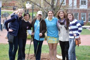 Chi O's Golf on Grounds supporting Make A Wish foundation