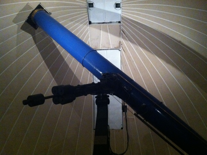 The largest of the telescopes at the Leander McCormick Observatory, with a 26 inch refractor.