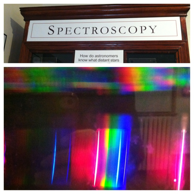 """Great exhibit on """"Spectroscopy"""" that shows you what stars are made of, while giving you a free light show."""